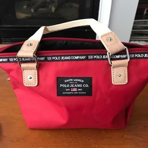 Ralph Lauren Polo Jeans Co mini red bag